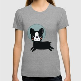 Boston Terrier In Space T-shirt