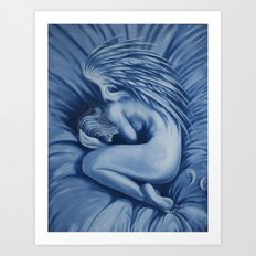 I want to stay in bed today Art Print