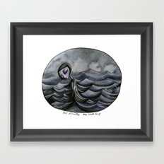 her Atlantic... Framed Art Print
