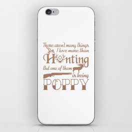 Hunting Poppy iPhone Skin