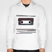 cassette Hoodies featuring ANALOG - CASSETTE by Verene Krydsby