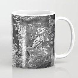 Black and White Abstract - Negative Style Random Pattern Coffee Mug