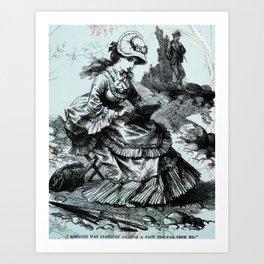 The landscape artist Art Print