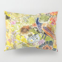 Peacock in the Jungle Pillow Sham