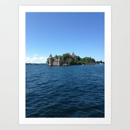 Castle on the water Art Print