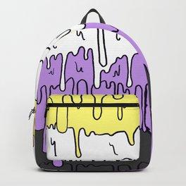 Cute Pride Pastel Melting Pride Design, Non Binary flag Backpack