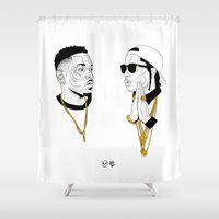 kendrick lamar Shower Curtains featuring Kendrick Lamar by Timothy McAuliffe