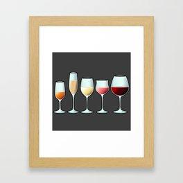 All the wine Framed Art Print