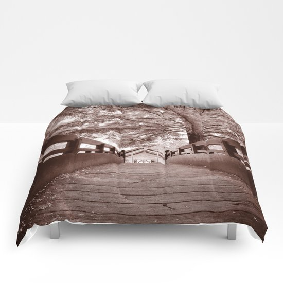 Sepia Bridge Comforters