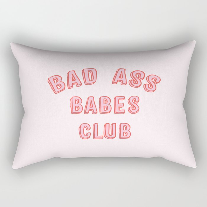 BAD ASS BABES CLUB Rectangular Pillow