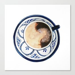 Cup of Coffee and Cream Canvas Print