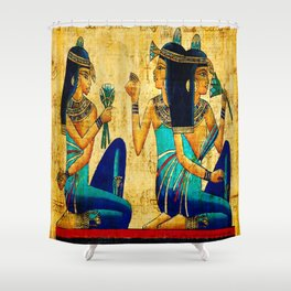 Egyptian Women Shower Curtain