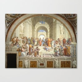 Raphael's The School of Athens Canvas Print