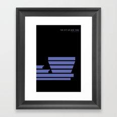 New York Skyline: Guggenheim Museum Framed Art Print
