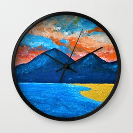 Evening Tide at Murlough - Abstract Seascape Oil Painting Wall Clock