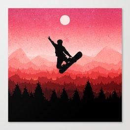 Snowboard Skyline I Canvas Print