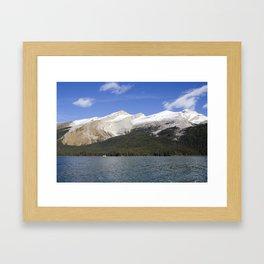 Mountains of Maligne Lake 2 Framed Art Print