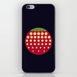 strawberry || russian black iPhone Skin