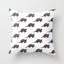 Rainbow Armadillo Throw Pillow