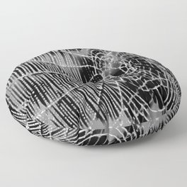 Black and White Spiders Web Floor Pillow