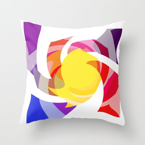 Spin on colour  Throw Pillow