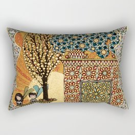 Night Rising Rectangular Pillow