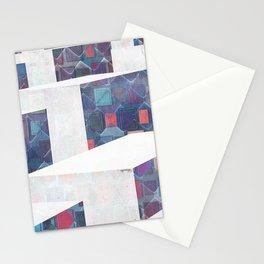 Modern Flow Cube Minimal Elegant Geometry Stationery Cards