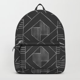 Metallic Silver Foil in Dark Gray Backpack