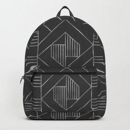Metallic Silver Foil in Dark Gray Backpack