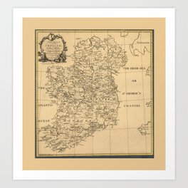 Map of Ireland (1795) Art Print