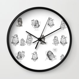 Monsters from Karst evryday life Wall Clock