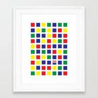 waldo Framed Art Prints featuring Square's Waldo by Jonah Makes Artstuff