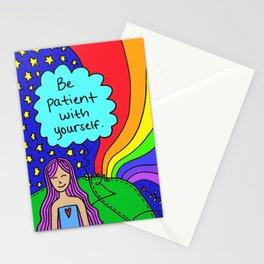 Be patient with yourself. Stationery Cards