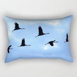 Welcome back! Cranes in flight #decor #society6 Rectangular Pillow