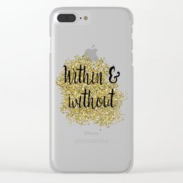Within and without - golden jazz Clear iPhone Case