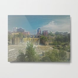 High Falls  on the Genesee River Metal Print