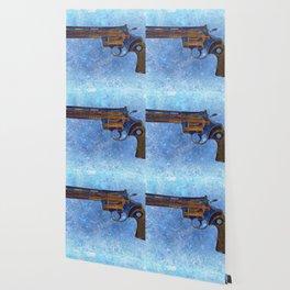 Colt Python 357 Magnum on Blue Back Ground Wallpaper