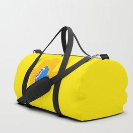 Pop Art Yellow Hamsa Hand Duffle Bag