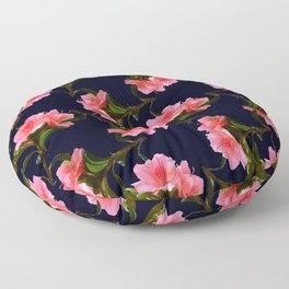 Pink Rhododendron Floor Pillow