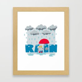 Rain! Framed Art Print