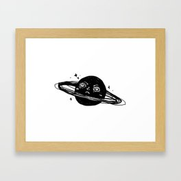Graphic: sad planet Framed Art Print