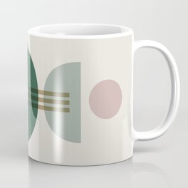 Emerald Abstract Half Moon 1 Coffee Mug