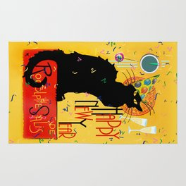 Chat Noir New Years Party Countdown Rug