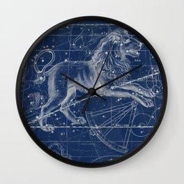Leo sky star map Wall Clock