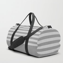 Gray color block and stripes Duffle Bag