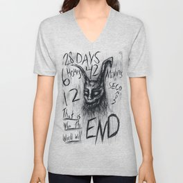 "Donnie Darko Frank The Rabbit ""28 Days...."" Unisex V-Neck"