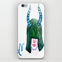 capricorn iPhone & iPod Skins featuring Capricorn by Aloke Design