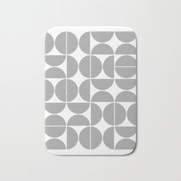 Mid Century Modern Geometric 04 Grey Bath Mat