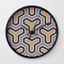 Abstract V Wall Clock