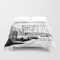 tokyo Duvet Covers featuring Tokyo by Jonas Ericson